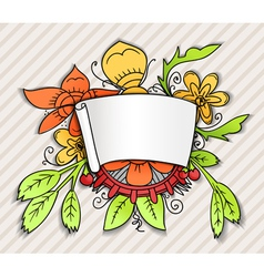 Fantastic style ornamented banner vector