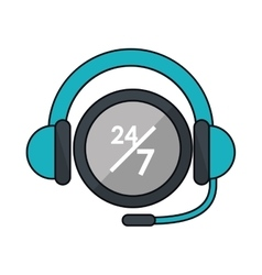 Isolated headphone of call center design vector
