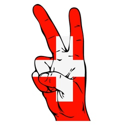 Peace sign of the swiss flag vector