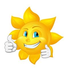 buautiful sun likes vector image
