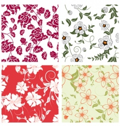 Floral backgrounds set vector