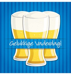 Dutch happy fathers day beer card in format vector
