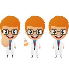 young scientist cartoon vector image