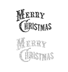 Merry christmas congratulation text vector