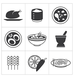 Icon thai food vector