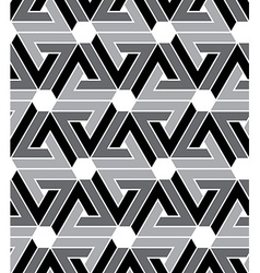 Black and white geometric zigzag seamless pattern vector