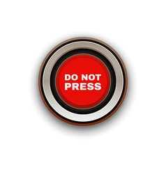 Industrial Red Button Do not press vector image