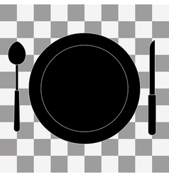 Platefork and knife vector image