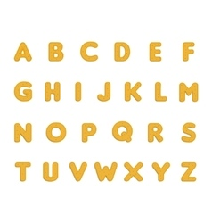 Dotted cookies alphabet vector image