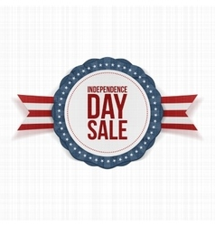 Independence day sale realistic label vector