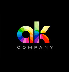 Ak a k alphabet letter mosaic design vector
