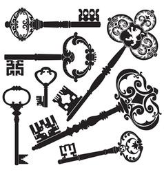 Antique keys vector image vector image