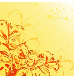 autumn floral grunge background vector image vector image