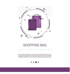 bags online shopping web banner with copy space vector image vector image