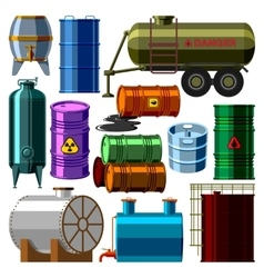 Barrel tanks set vector image