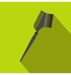 Bilateral comb flat icon with shadow vector image
