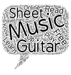 Can you read your free guitar sheet music text vector