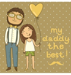 Card for fathers day vector image