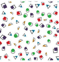 colorful abstract seamless pattern simple style vector image