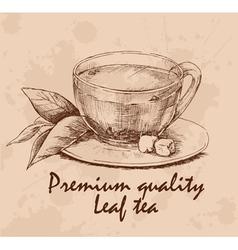 Cup of leaf tea vector