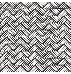 Hand drawn monochrome pattern vector image vector image