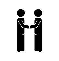 Handshake deal man vector