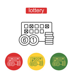 Lottery line icon editable stroke vector