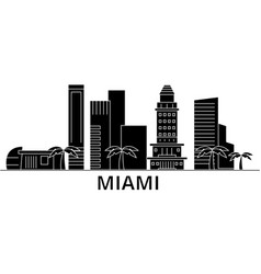 miami architecture city skyline travel vector image vector image