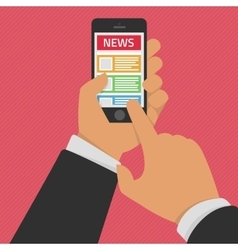 News app on smartphone screen vector image