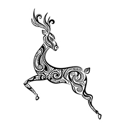 Ornament deer vector