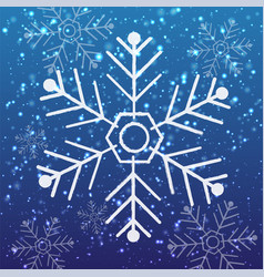 pattern snow vector image vector image