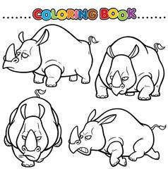 Rhinos vector image