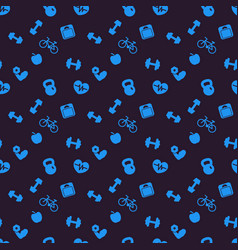 seamless pattern background with fitness icons vector image vector image