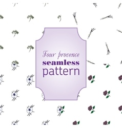 Set seamless patterns with provence flowers vector image
