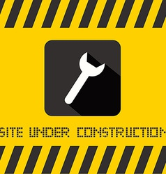 Site Under Construction Title with Spanner Icon on vector image vector image