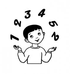 sketch little boy juggles vector image vector image