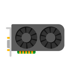 Video card pc hardware vector