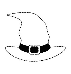Witch hat isolated icon vector