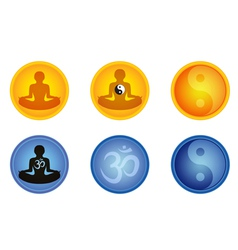 Meditation signs vector