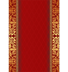 Decorative red background vector
