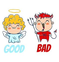 bad and good vector image