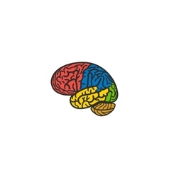 Isolated abstract colorful brain logo human vector