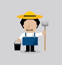 Farmer man vector