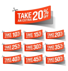 Take an Extra Sale coupons vector image