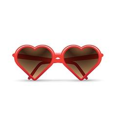 Heart sunglasses vector image