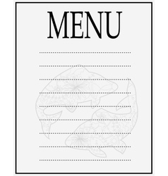 Menu of seafood vector