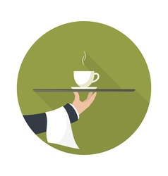 Green tea on a tray vector