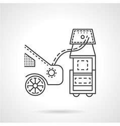 Car emission control line icon vector