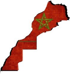 Morocco map with flag inside vector