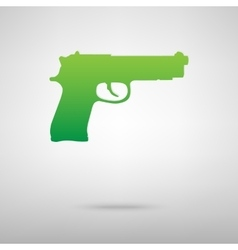 Gun symbol green icon vector